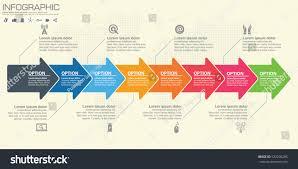 timeline infographics template arrows flowchart workflow stock timeline infographics template with arrows flowchart workflow or process infographics vector eps10 illustration