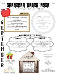 primary newsletter template party like a