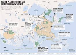 South Louisiana Map by Louisiana Coastal Restoration 50 Year Blueprint Released Nola Com