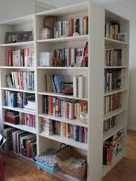 awesome modern white wooden bookshelves with nice graded rack also