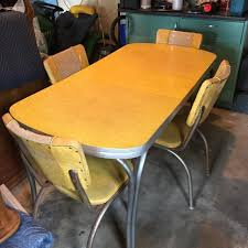 Yellow Kitchen Table And Chairs - home design gorgeous yellow formica table and chairs vintage
