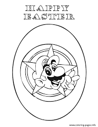 happy easter mario coloring pages printable