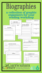 writing a biography graphic organizer biographies the curriculum corner 4 5 6