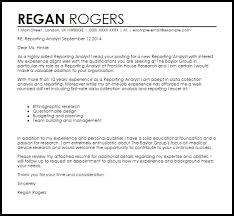 sample cover letter analyst awesome cover letter sample for