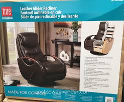 Swivel Glider Recliner Chair by True Innovations Leather Swivel Glider Recliner Chair Costco