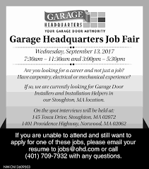 Resume To Apply For A Job by Job Fair Job At Garage Headquarters Monster Com
