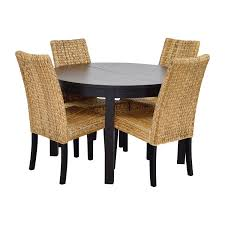 Macys Patio Dining Sets - 66 off macy u0027s u0026 ikea round black dining table set with four