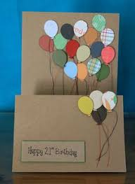 hand crafted birthday card black short and wide format