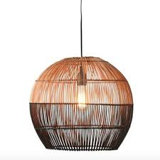 Bamboo Ceiling Light Bamboo Pendant Light Black Revibe Designs
