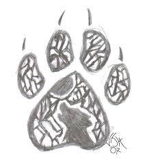 wolf pawprint by meriaun on deviantart