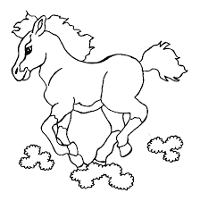 coloriage cheval cheval 4 à colorier allofamille