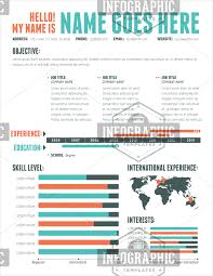 infographic resume template professional infographic resume templates impression vision cv