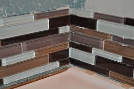 how to install a glass tile backsplash in the kitchen awesome installing glass tile backsplash on drywall installing