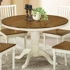 White And Oak Dining Table Shop Monarch Specialties Antique White Oak Dining Table At