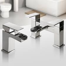 bathroom taps chrome basin mixer bath filler shower deck waterfall