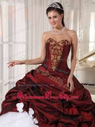 burgundy quince dresses sweetheart appliques quinceanera dress in burgundy and white 185 47