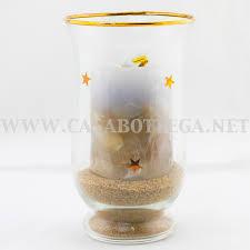 porta candele porta candela tea light in vetro con pout pourry