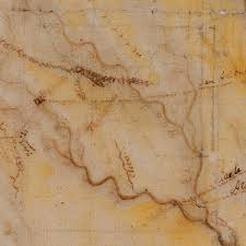 Old Texas Map Texas 1822 Stephen F Austin Mapa Geografico Manuscript Map