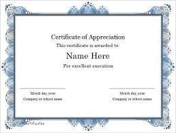 certificate templates microsoft word the best letter sample