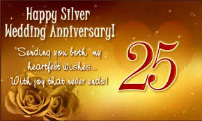 Best 25 Anniversary Wishes To Best Greetings 25th Anniversary Wishes For Parents Nicewishes