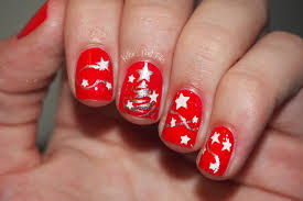 nail art awesome easy christmas nail art for short nails images