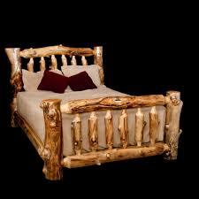 Log Queen Bed Frame Bedroom Excellent Log Furniture Wood Types Guide Intended For