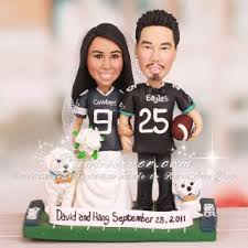 cowboy wedding cake toppers philadelphia eagles and dallas cowboys wedding cake toppers