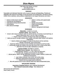 Nanny Resume Sample Templates by Nanny Resume Template Resume For Your Job Application