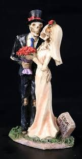 skeleton wedding cake toppers never dies skeleton wedding cake topper inspired day