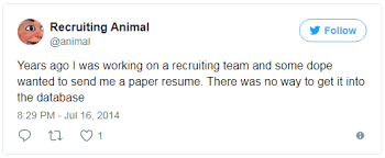 Sending Resume To Recruiter Why Paper Resumes Aren U0027t Going Away Anytime Soon