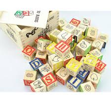 English Christmas Gifts - english alphabet blocks early teaching characters wooden toys