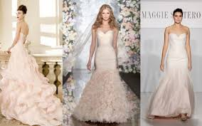 blush wedding dress trend table bridal trends table 6 productions wedding and
