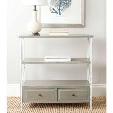 safavieh cindy red storage console table amh6568f the home depot