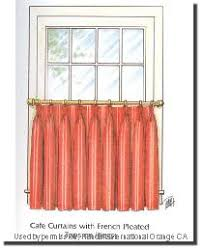 French Pleated Drapes Custom Drapery Custom Curtain Tab Top Curtain Caf Curtain