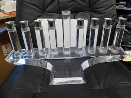 lucite menorah acrylic lucite menorah astrolite products ritts co l a