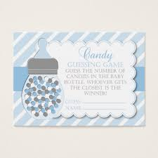 baby shower guessing boy bottle baby shower guessing business card zazzle
