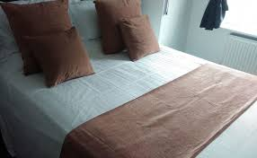 mocha caramel chenille hotel bed runners