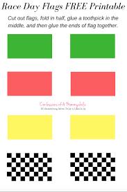 Printable Flag Race Cars With Fruit And Free Flag Printable And Back Tips