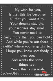 wedding wishes lyrics rascal flatts song lyrics like success