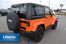 orange jeep rubicon jeep wrangler 3 door in south dakota for sale used cars on