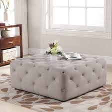 large padded coffee table large ottoman coffee table homeandfurn