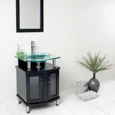 Modern Glass Bathroom Vanities by Bathroom Modern White 24 Bathroom Vanity With 4 Drawers For