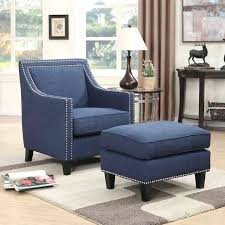 Chair With Matching Ottoman Accent Chair With Matching Ottoman Emery Navy Blue Superior And 4