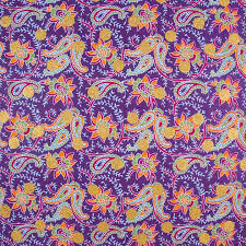 purple floral paisley gift wrap sheet