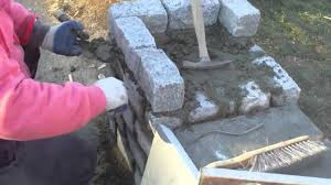 How To Build A Stone by Building A Stone Pillar Youtube