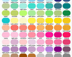 colour chart samples etsy