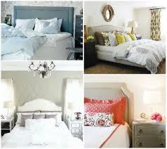clever nest bedroom makeover diy nailhead headboard