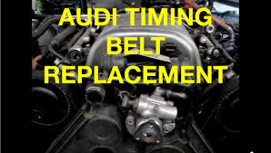 audi timing belt replacement mechanic how to replace a audi a6 3 0l timing belt