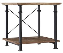 livingroom end tables rustic metal wood end tables living room