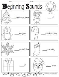 christmas and winter literacy and math activities beginning